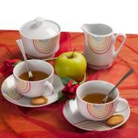 Сет за кафе Цветна дъга, 15 части