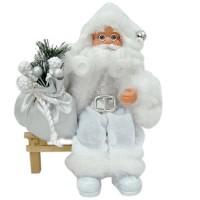 Дядо Коледа на пейка, 18см