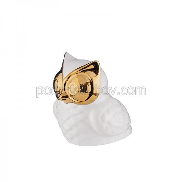 Керамична статуетка Бухал злато