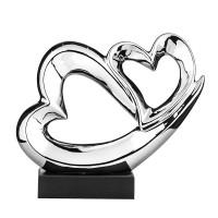 Керамична статуетка Две сърца