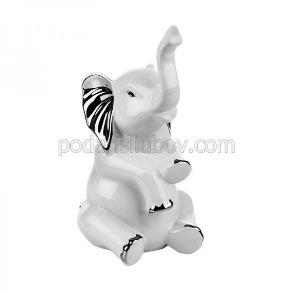 Керамична статуетка Слонче изправено