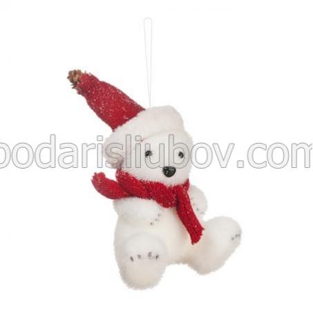 Коледна животинка - Мече, 34см.