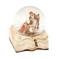 Преспапие Рождество, кръгла сфера и книга