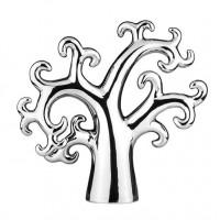 Керамична статуетка Дърво, сребристо