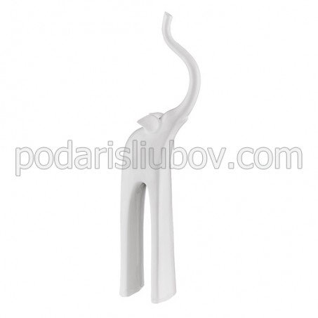 Керамична статуетка Слон, бял