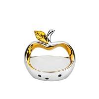 Керамична статуетка ябълка злато