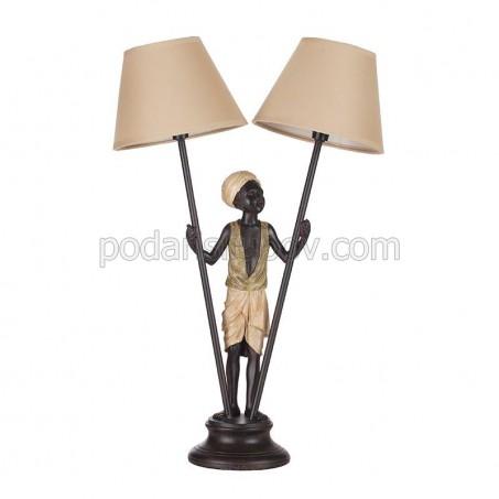 Настолна лампа, с основа статуетка афроамериканец