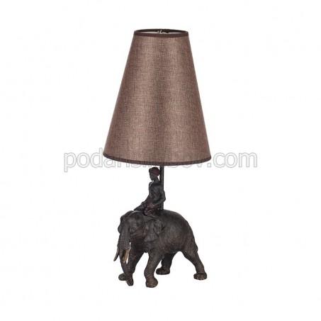 Настолна лампа, с основа статуетка слон