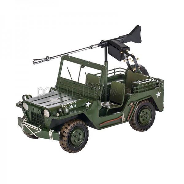 Ретро военен джип, зелен цвят