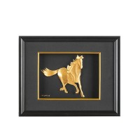 Златен кон в рамка