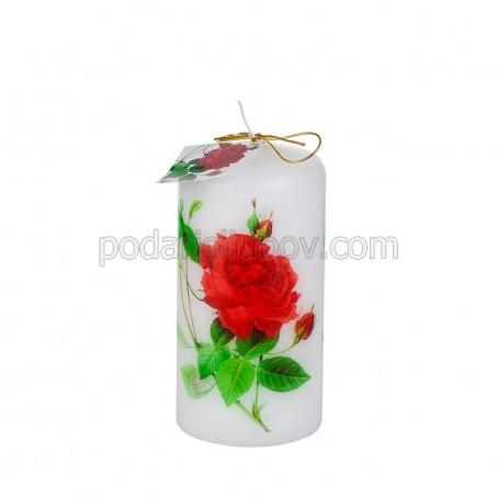 """Бяла свещ """"Роза"""""""