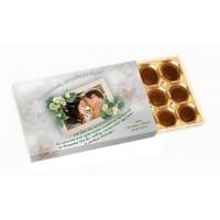 Подарък за сватба - шоколадови бонбони със снимка