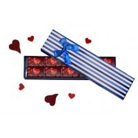 """Шоколадов подарък с бонбони """"Обичам те"""" в красива кутия"""