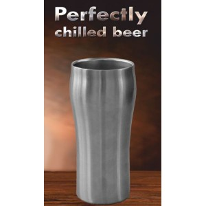 Метална чаша за бира, двустенна, 400мл