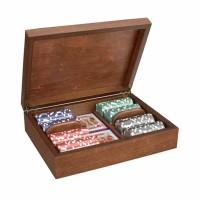 Дървена кутия с 200 покер чипа Radica