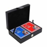 Кожена кутия с карти за покер Модиано