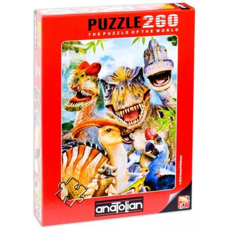 Пъзел Динозавърско селфи, 260 части