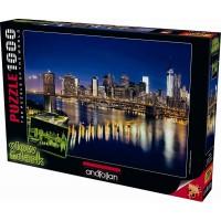 Пъзел Бруклинският мост - неон, 1000 части