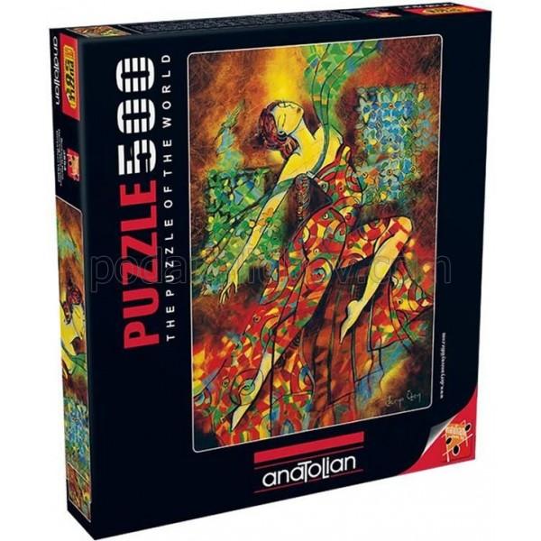 Пъзел Танцуващата с цветовете, 500 части