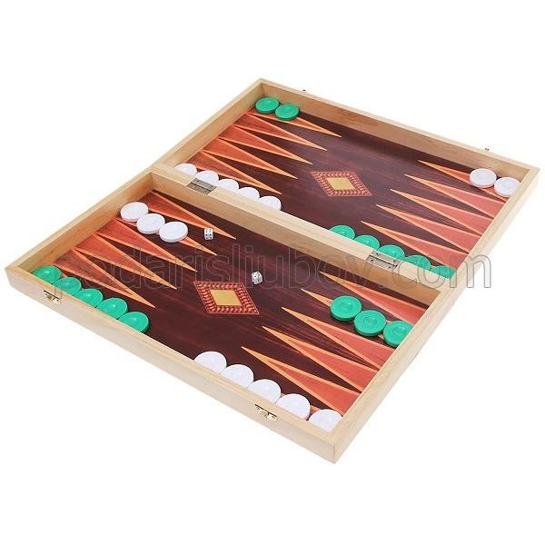 Дървена игра табла (с дъска за шах)