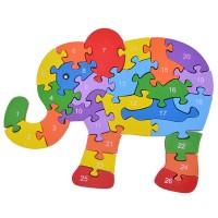 Дървен пъзел за деца, Слон