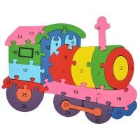 Дървен пъзел за деца, Влак