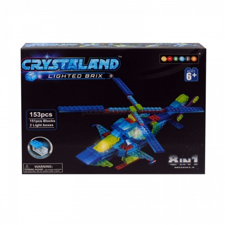 Мини конструктор Хеликоптер, светещи елементи, 8 в 1