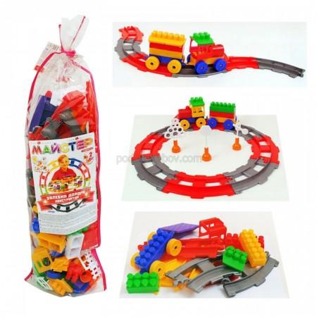 Детски конструктор, Железопътна линия с влак, 90 части