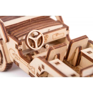 Джип, дървен 3Д конструктор
