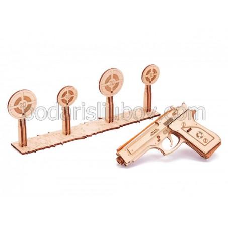 Пистолет, дървен 3Д конструктор