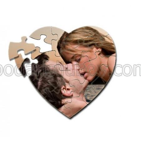 Пъзел сърце с Ваша снимка, 19,5*19,5см