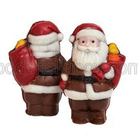 Дядо Коледа с чувал на гърба, шоколадова фигурка