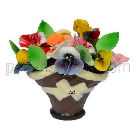 Шоколадова кошница от цветя