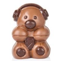 Шоколадово мече със слушалки, в кутия