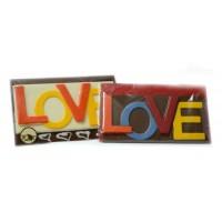 Шоколадова плочка с надпис LOVE
