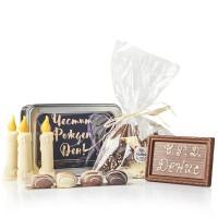 Подаръчен комплект Честит Рожден Ден, белгийски шоколад