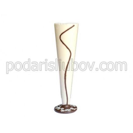 Чаша за шампанско от шоколад