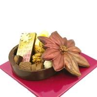 Шоколадова коледна звезда - кутия с бонбони