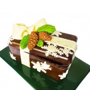 Шоколадово сандъче за Коледа с бонбони