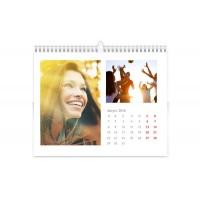 Календар - пирамидка 20*15см, 12-листен, с 24 снимки, + корица