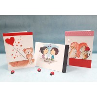 Любовна 3Д картичка, 10.5*15см