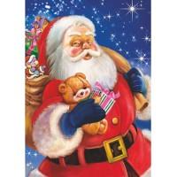 Картичка Дядо Коледа, 11*15см