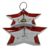 Поднос на две нива Коледна звезда