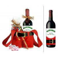 """Коледни панталони """"Дядо Коледа"""" с вино с етикет и лакомства"""
