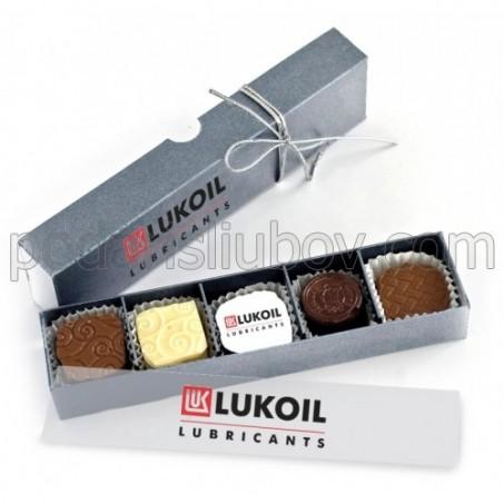 Корпоративен шоколадов подарък, с 5 бонбона, на едро