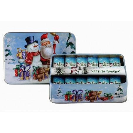 Шоколадчета за Коледа и Нова Година в метална кутия