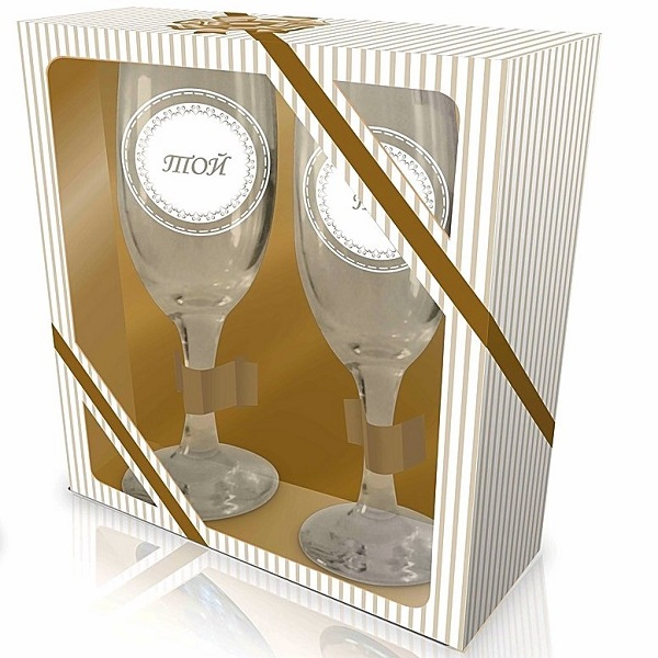 Комплект чаши Тя и Той, в подаръчна кутия