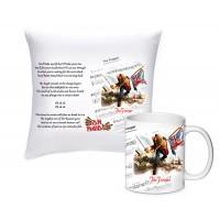 Комплект с възглавничка и чаша Iron Maiden