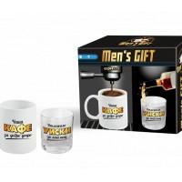 За него - комплект с чаша за кафе и за уиски