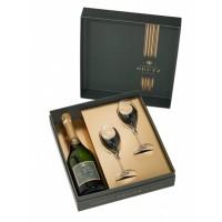 Луксозен сет с чаши и шампанско Дютц Брут, 750 мл